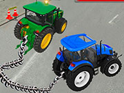 Verketteter Traktor-Abschleppsimulator